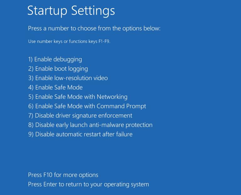 Change the Windows registry in safe mode 2