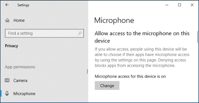 Check the microphone settings in Windows 10 - Step 1