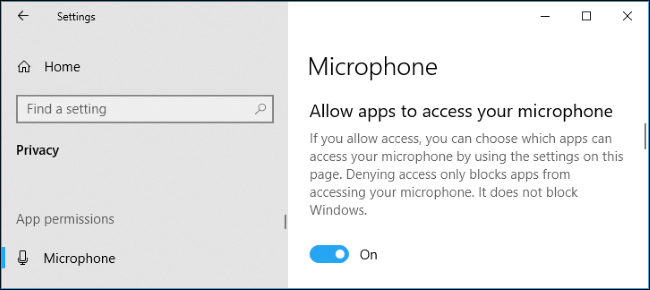 Check the microphone settings in Windows 10 - Step 2