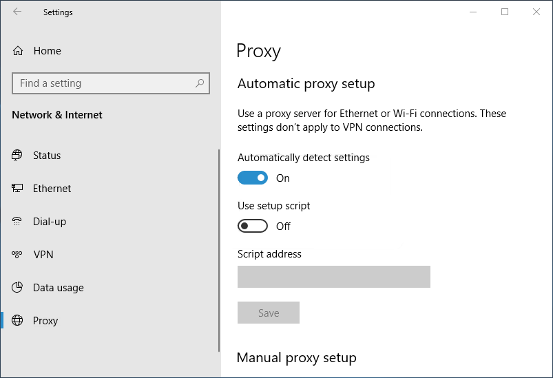 DISM Failed - Disable the Proxy on Your PC