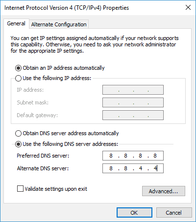 ERR_NAME_NOT_RESOLVED - Change your DNS - Step 5