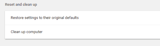 ERR_NAME_NOT_RESOLVED - Reset Chrome - Step 1, 2 and 3