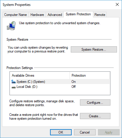 Emerging issue 70008 - Perform System Restore - Step 2