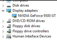 Find your video card in Device Manager