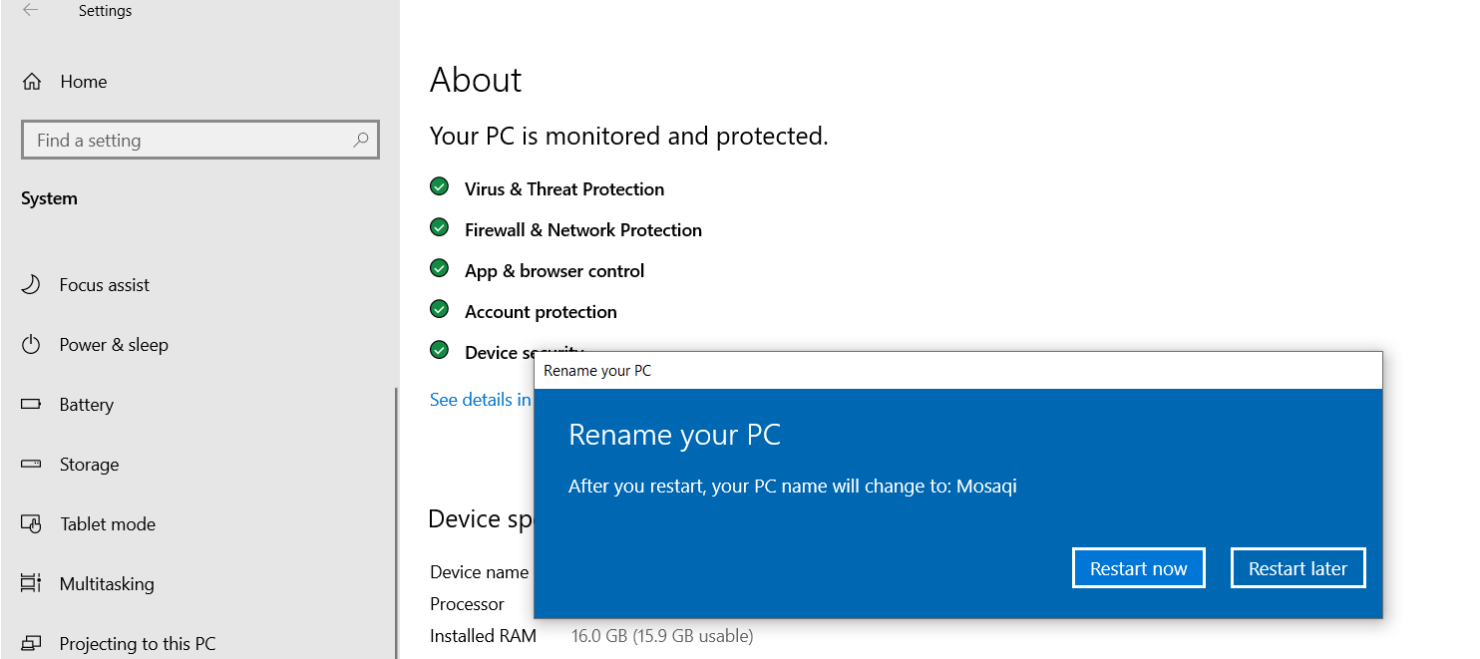 How to Change Your Computer's Name in Windows 10