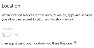Location Services Greyed Out in Windows 10