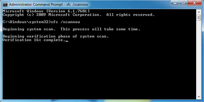 Perform a system file check