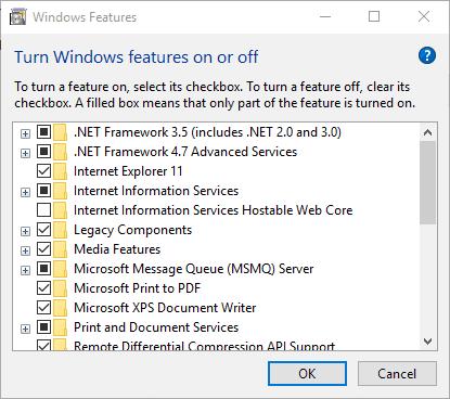 Reinstalling the Microsoft NET framework1