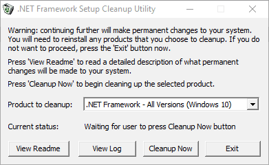 Reinstalling the Microsoft NET framework2