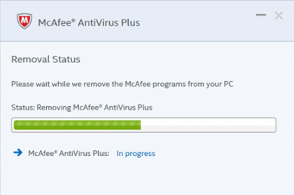 Default Gateway Not Available - Remove McAfee Antivirus