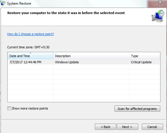 System recovery - Step 3 and 4