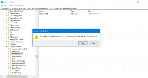 clear the display cache in Windows 10