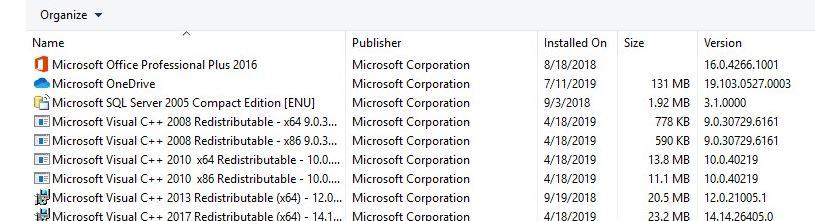 program lists