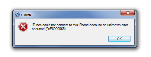 How to fix error 0xE8000065 in iTunes on Windows 10