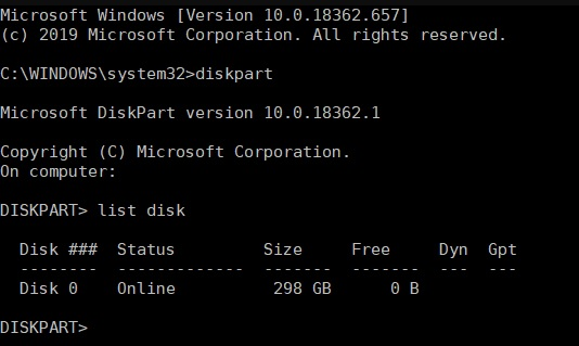 """To fix error 0x8004242d """"The selected partition cannot be formatted"""""""
