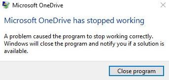 OneDrive Keeps Crashing in Windows 10