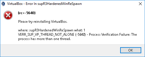 supr3hardenedwinrespawn error in VirtualBox