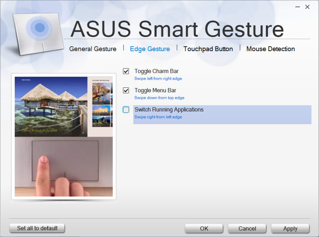 What is the reason why the ASUS Smart Gesture driver doesn't install?