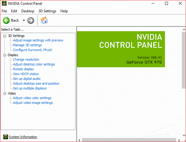 How to Fix Nvidia Control Panel Does Not Open in Windows 10