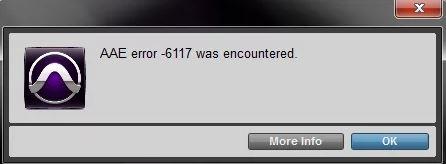 "How to troubleshoot Pro Tools ""AAE Error - 6117"" problem"