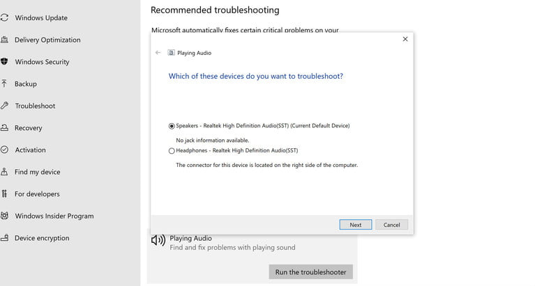How to fix missing sound and other sound problems in Windows 10
