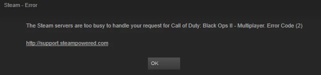 Fix Steam Error code 2 - Servers are too busy